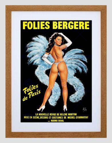 AD THEATRE STAGE REVUE FOLIES BERGERE PARIS SHOWGIRL DANCE FR PRINT B12X6548