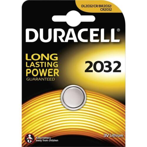 Duracell Cr 2032 Moneda De Litio Batería-Alarma de automóvil Llavero Antorcha-X 1 2 4 5 10 Dl