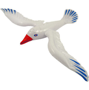 Inflatable Seagull Blow Up Hawaiian Birds Beach Toys Loot Party Props Bag Filler