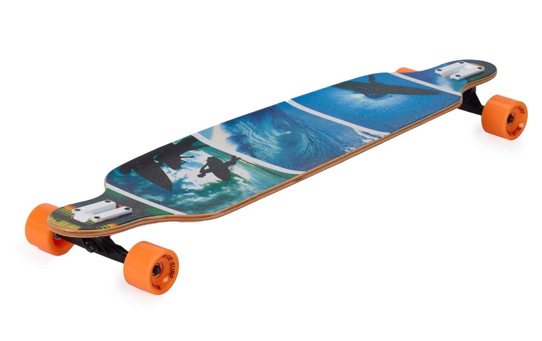 Longboard Drop Shape Low Surf Sportbanditen 107cm Komplettboard ABEC 7