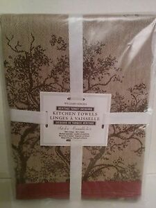 Image Is Loading New Williams Sonoma Heritage Jacquard Thanksgiving Kitchen  Towels