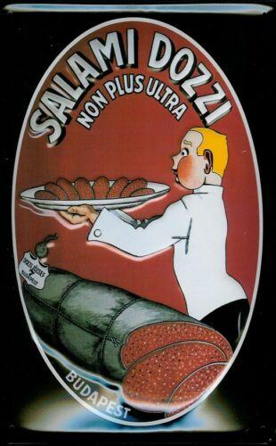 Salami Dozzi Blechschild Schild Metal Tin Sign 3D geprägt gewölbt 20 x 30 cm