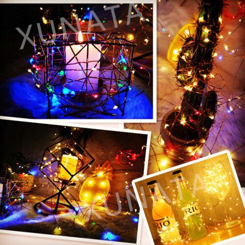 50m LED Fairy String Steck Leuchte Lampe Farbwechsler Garten Party Beleuchtung