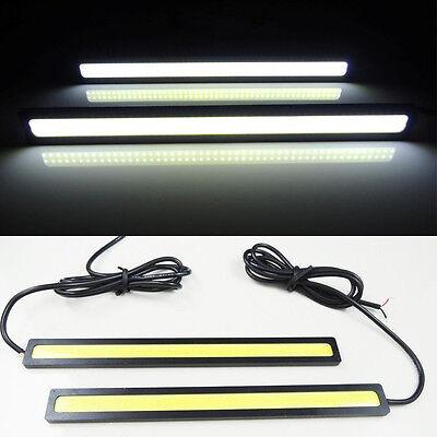 2pc Super Bright White Car COB LED Lights -DRL Fog Driving Lamp Waterproof DC12V