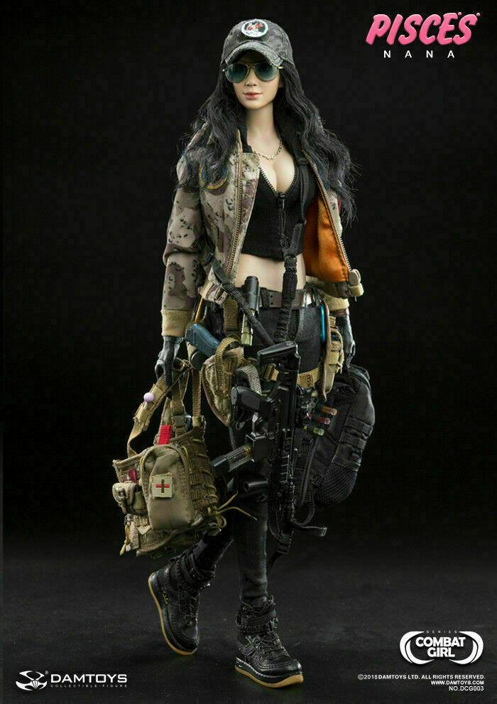 1 6 Phicen, DAMToys Female Action Figure Combat Girl Pisces Nana Deluxe Box Set