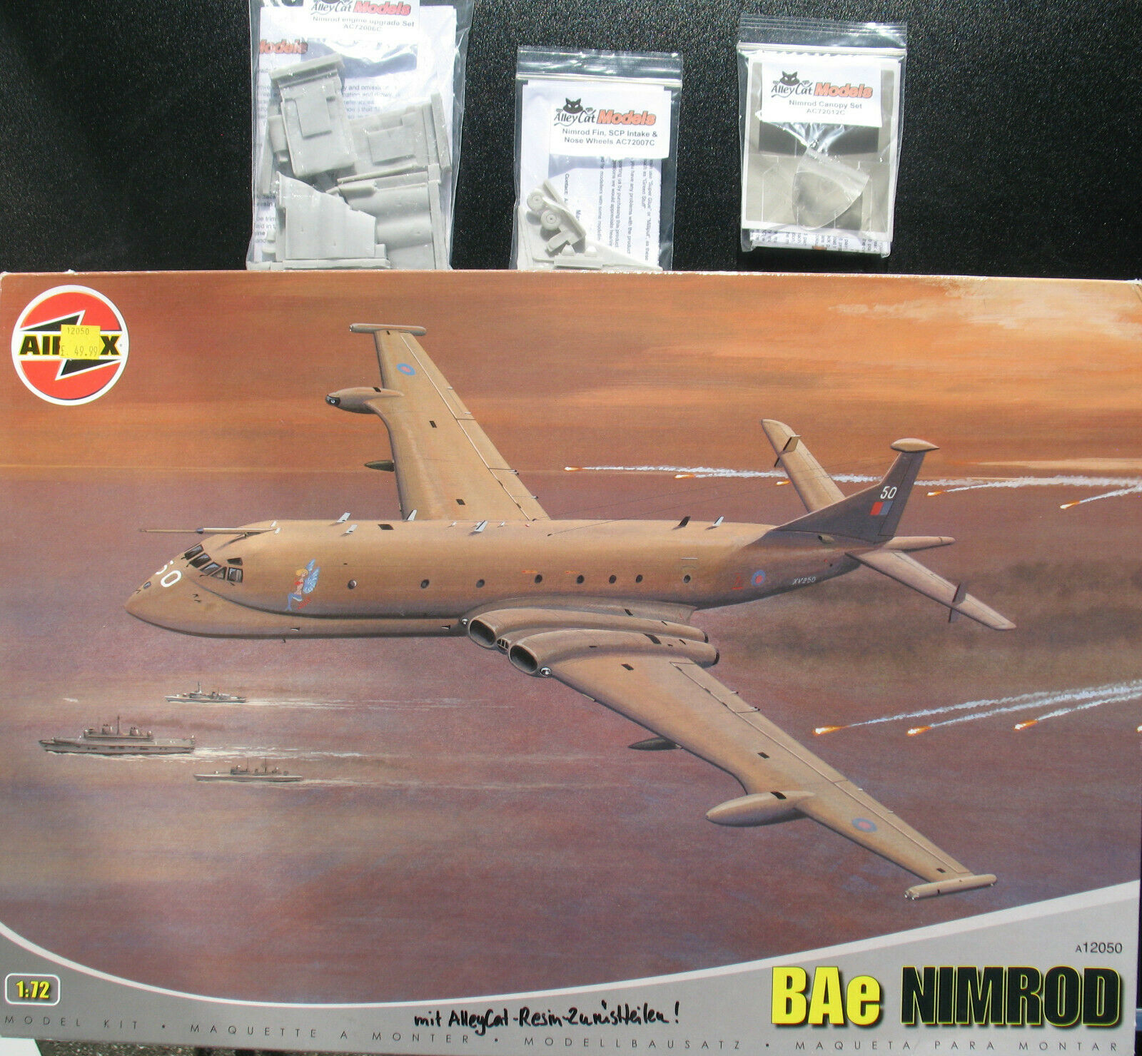 AIRFIX A12050 - BAe NIMROD  Alley Cat Resin Parts - 1 72 - Flugzeug Bausatz Kit  | Attraktives Aussehen