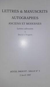 1987 Catalogue Di Vendita Drouot Lettere Autografe Autografi Alumni & Moderno