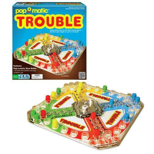 TROUBLE Pop-O-Matic Dice Classic Edition Retro Family Board Pop N Hop Game NEW