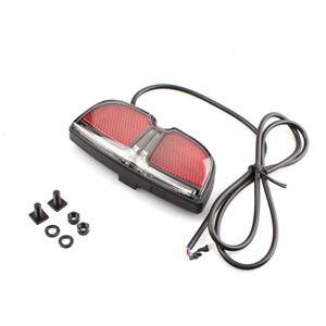Electric Bike Brake Lamp Rear Rack 6V LED Taillight For Bafang Mid Drive Motor