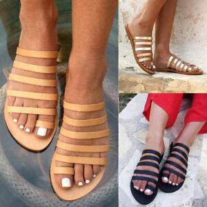 9853ee4428ce Summer Women s Toe Ring Flip Flops Slippers Ladies Strappy Flat ...