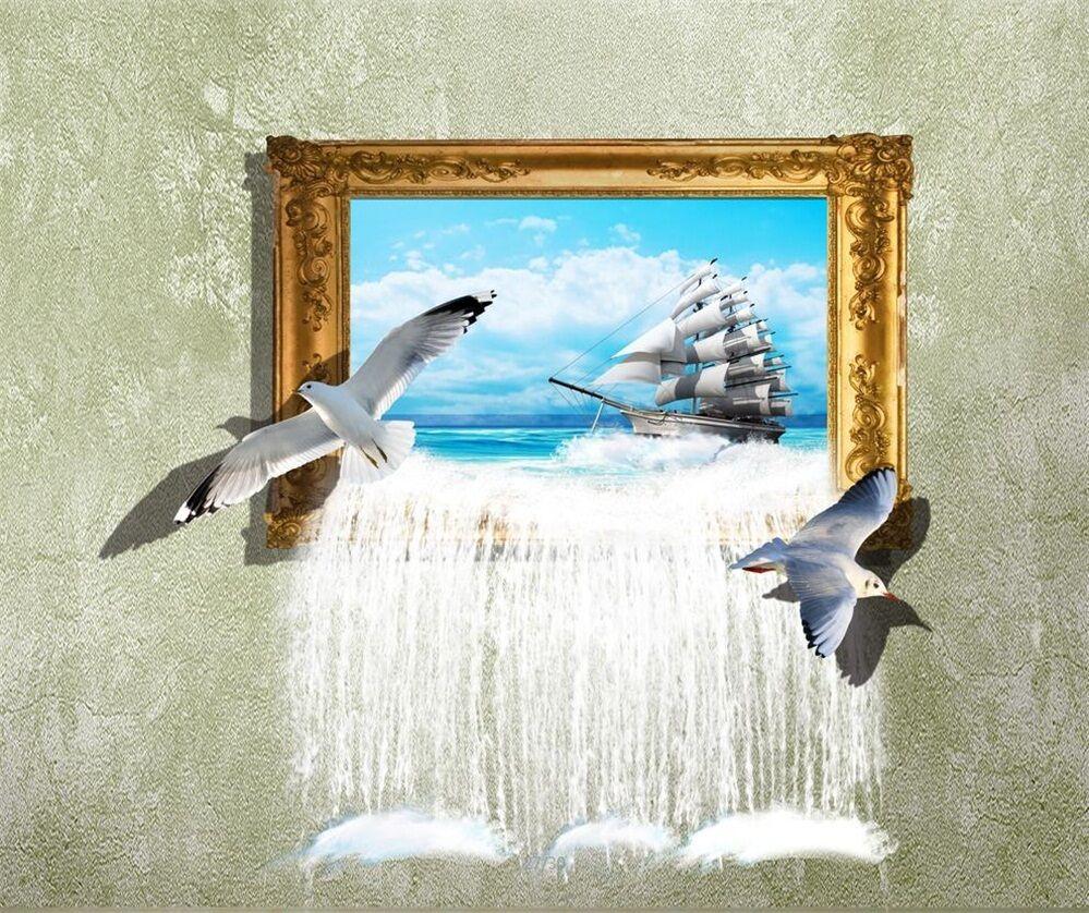 3D Framed Ocean 633 Wall Paper Wall Print Decal Wall Deco Indoor AJ Wall Paper