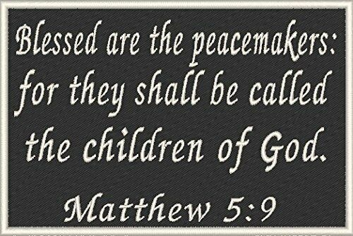 ST MATTHEW 5:9 Verse Military Army Patch With VELCRO® Brand Fastener