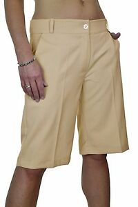 149f38287d Image is loading Ladies-Smart-Casual-Washable-Tailored-Shorts-Beige-NEW-