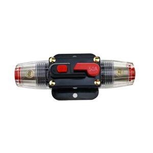 12V-24V 50A Amp Car Audio Solar Energy Inline Circuit Breaker Fuse Holder US New