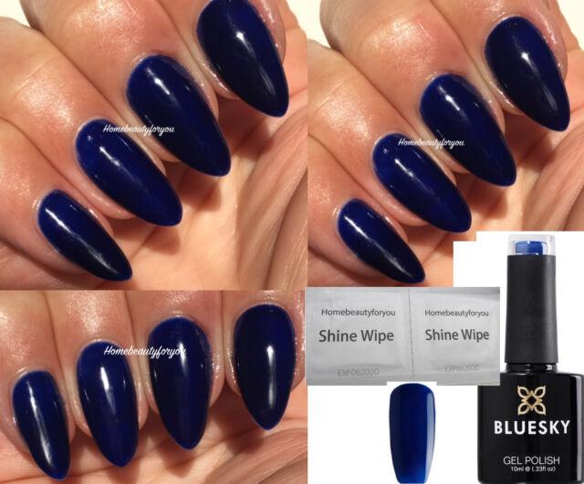 GEL Polish Nails by Bluesky Shiny Asphalt 10ml | eBay