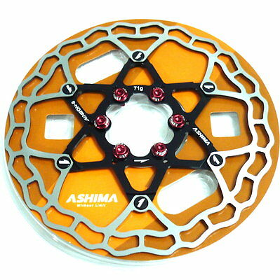 gobike88 The Lightest ASHIMA AiNEON Disc Rotor 71g Y62 160mm Gold