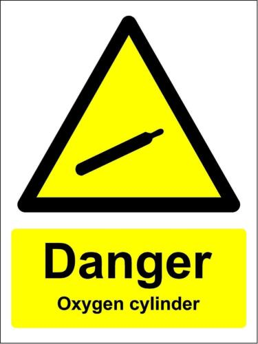 Pericolo BOMBOLA DI OSSIGENO segno di sicurezza