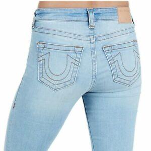 True-Religion-Women-039-s-Jennie-Curvy-Skinny-Stretch-Jeans-in-Breakaway-Blue