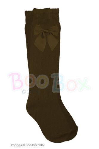 Baby Girls Girls Knee High 3//4 Spanish Ribbon Bow Socks NB-5 Years