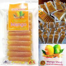 MANGO Sheet Chewing Dried Delicious Thai Fruit Premium Amazing Food Snack 32g.