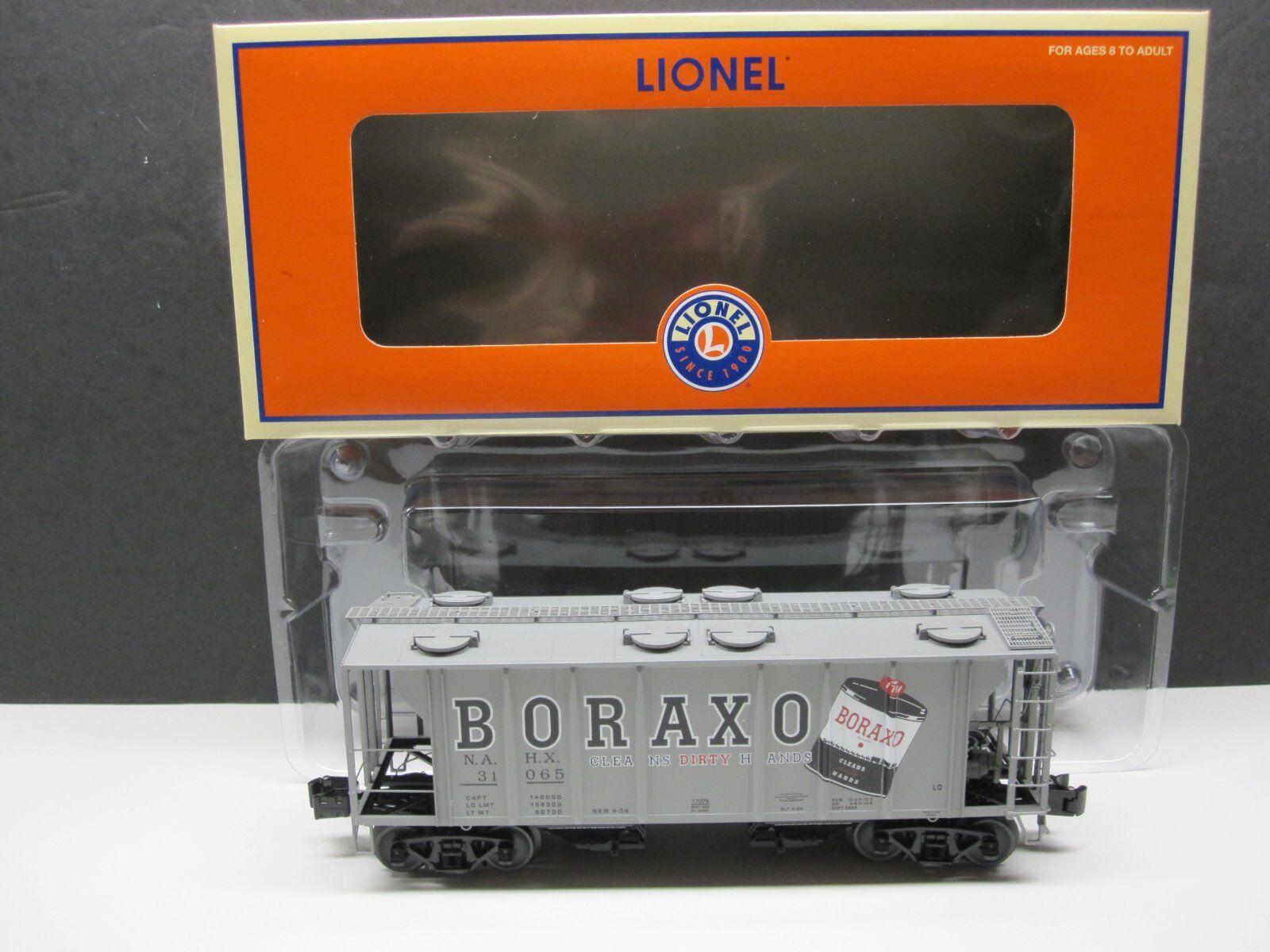 LIONEL 6-17079 O SCALE BORAXO PS-2 2 BAY COVErosso HOPPER AND ORIGINAL BOX