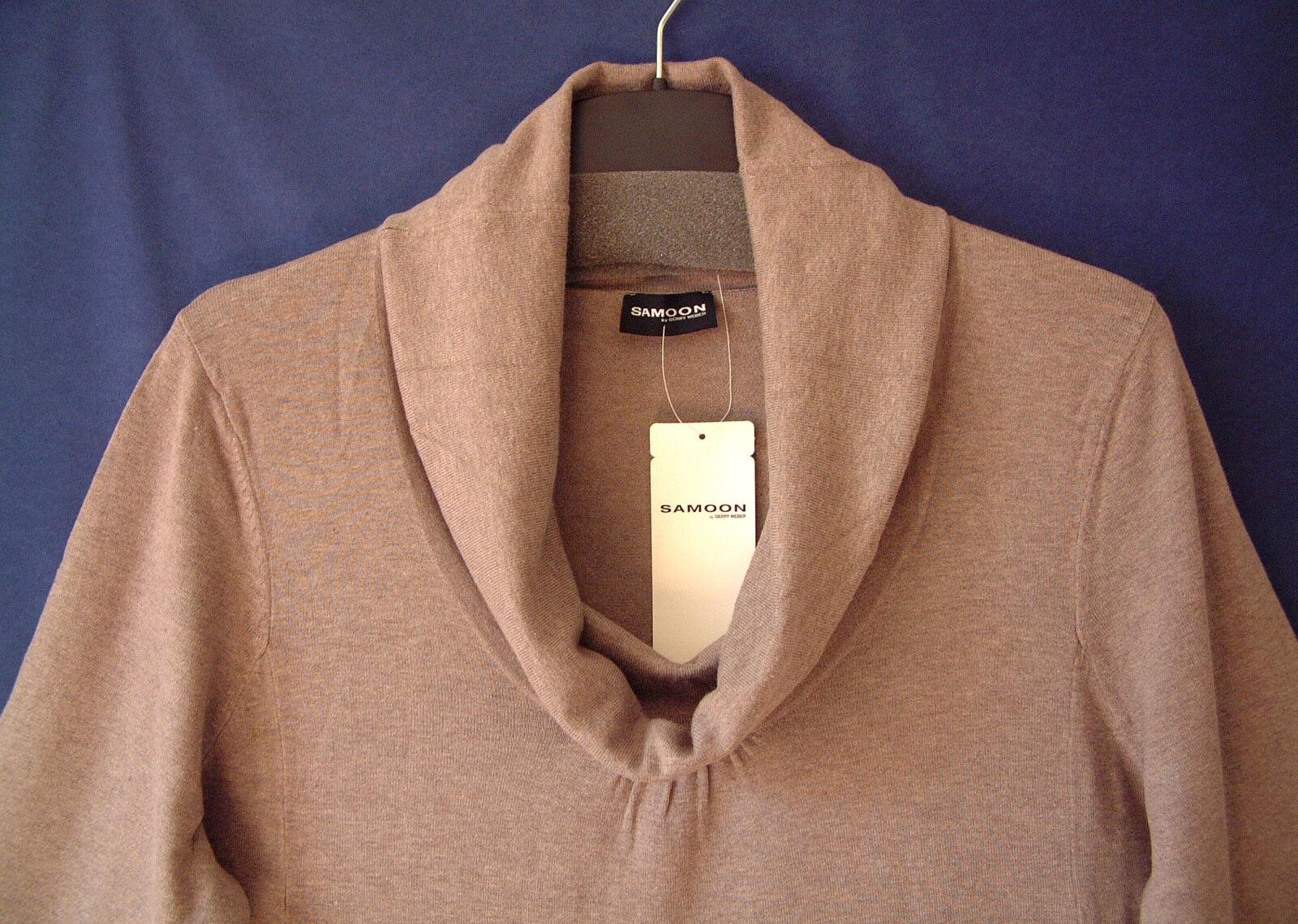 Samoon Maglione GERRY GERRY GERRY WEBER longstyle Maglione VESTITO CORTO finemente lavorato a maglia nuovo donna tg. c9d5b3