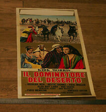 DESERT RAIDERS - ITALIAN 1-Sheet LOCANDINA MOVIE FILM Poster 1964 - Kirk Morris