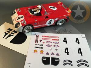 SLOT CAR SCALEXTRIC échelle 1//32nd Race Stickers Decals