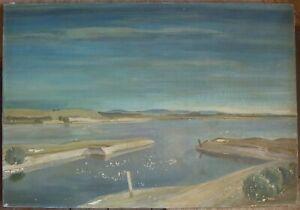 Karl-Schlageter-1894-Lucerne-1990-Zurich-Oil-Painting-Signed-Antique-Sea-Shore