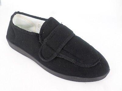Kleidung & Accessoires Ordentlich Mens Touch Fastening Black Slippers Uk 9 Eu 43 Ln091 Jj 07 Auf Dem Internationalen Markt Hohes Ansehen GenießEn