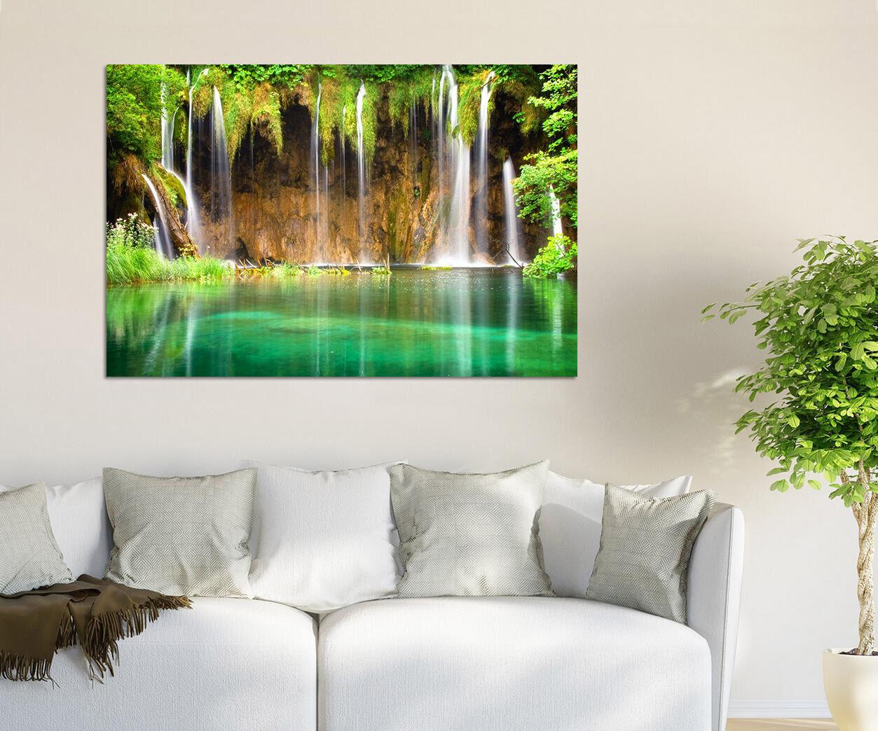3D Fluss Schlamm Gras Vorhang 8 Fototapeten Wandbild BildTapete AJSTORE DE Lemon