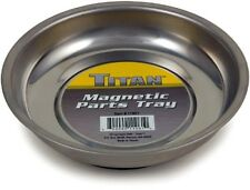 """Titan Tools 11061 Mini Magnetic Parts 4-1/4"""" Round Stainless Steel Tray"""