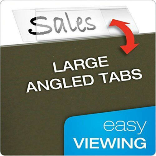 USA 20//50//100X Filing Folder File Tabs Inserts Suspension Hanging Clear Plastic