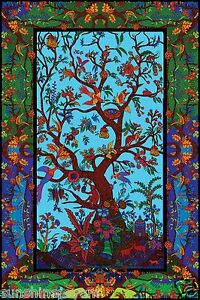 d color tree of life tapestry beach sheet hanging wall art corner