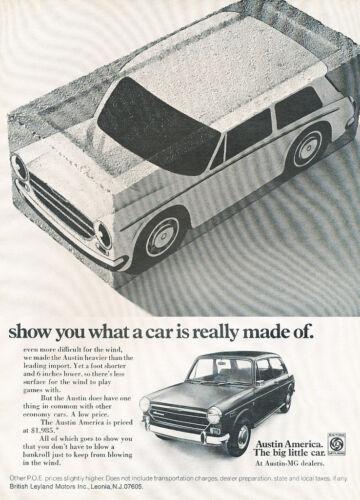 1971 Austin America Classic Vintage Advertisement Ad H83 19354d 2-page