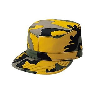 449280a5d06 Yellow Camouflage Cap Woodland Hat Fitted Back Patrol CAP size XL 7 ...