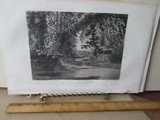 Vintage Print,MILL CREEK NEAR CINCINNATI,Ladies Repository,c1857