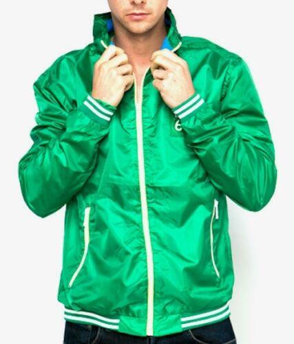 Mens Route 66 Green Jacket Zip Through Light Weight Windbreaker Retro S /& M Sale
