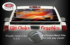 American Bow Hunter Sunset Rear Window Graphic Decal Sticker Truck Car SUV