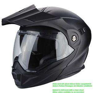 Scorpion-ADX-1-Solid-Casque-de-Moto-Rabattable-Enduro-Noir-Mat