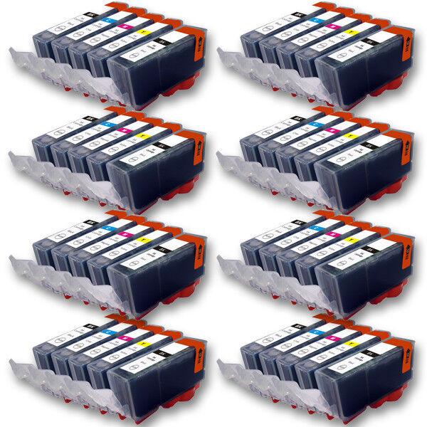 Cartuchos de impresora 40x para Canon PIXMA mg6853 mg6852 mg6851 mg6850 mg6800 con chip