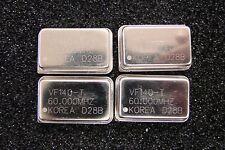VALPEY-FISHER 60MHz Crystal Oscillator VF140-T-60.000MHz TTL 5V DIP-14, Qty.4