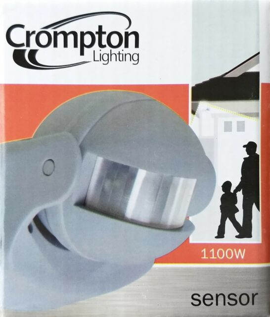 4 X Crompton PIR Motion Sensors - for Outdoor Security Lights Grey ...