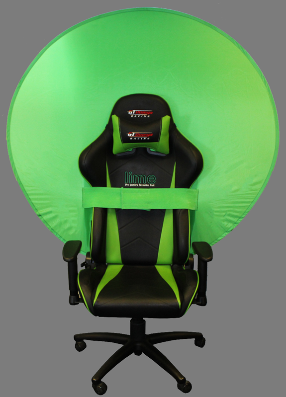 WebAround Green Screen-Privacy screen (Perfect for Streamers on Twitch/Youtube)