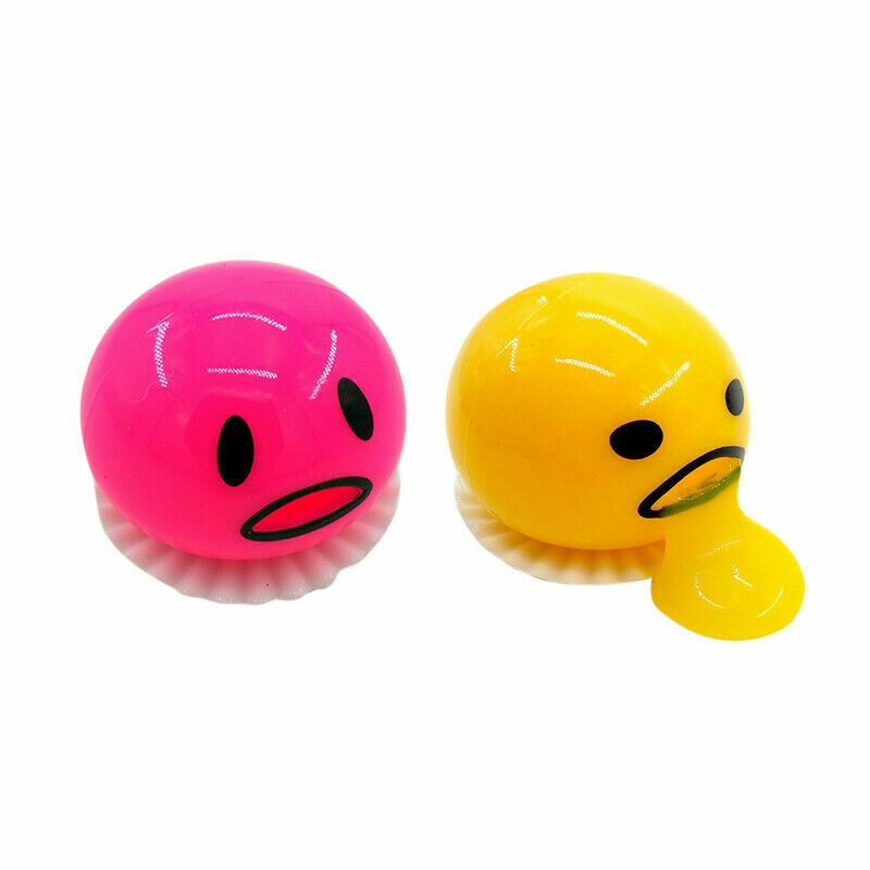 1Pc Stress Ball Vomiting Egg yolk Funny Gift Vent Random Color Sucking Lazy Egg