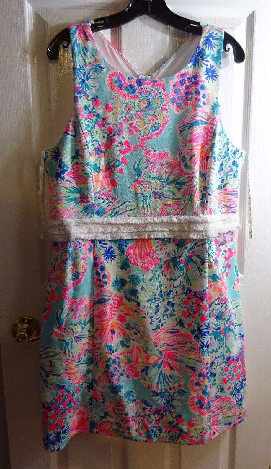 LILLY PULITZER Serene Blau Gypsea Arden Shift Dress XL NWT