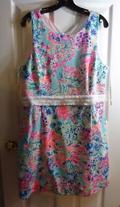 21217293704273 Image is loading LILLY-PULITZER-Serene-Blue-Gypsea-Arden-Shift-Dress-