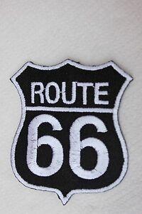 *- Route 66 -*- Insigne tissus à coudre ou à coller au fer  ( H:8 cm - L: 7cm)