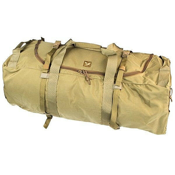 EAGLE INDUSTRIES KHAKI TAN LONG TREC BAG   TREC-L TACTICAL GEAR BAG