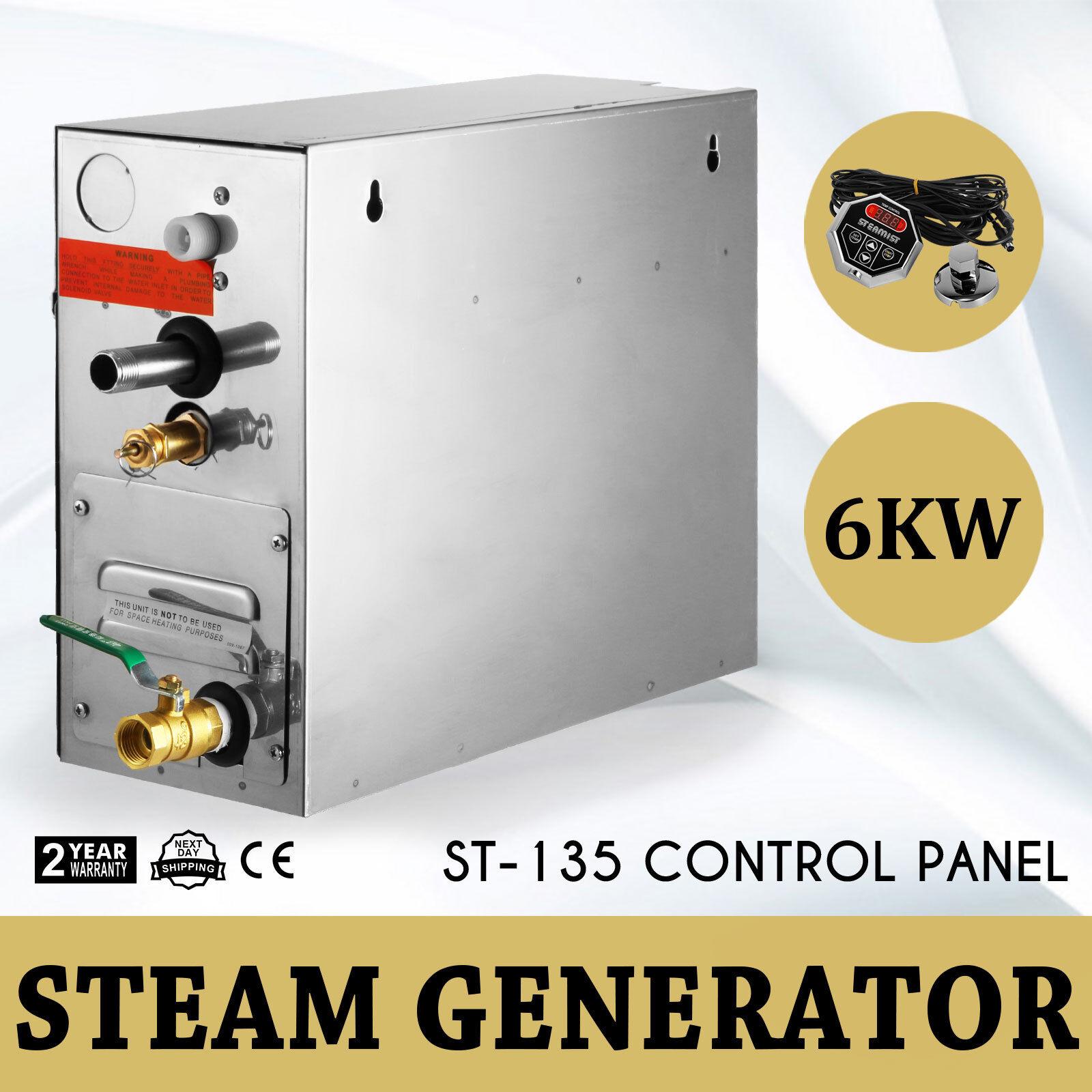 6kw Steam Generator Sauna Bath Home Spa Shower Steam Room Controller ...